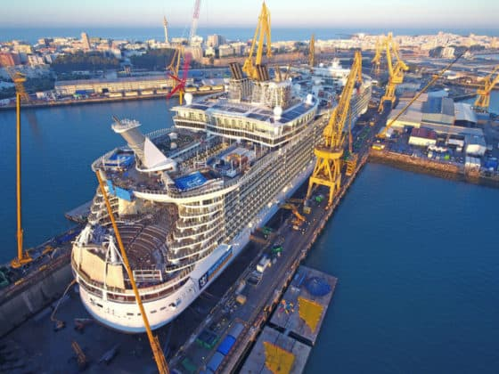 Oasis of the Seas Dry Dock
