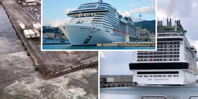 MSC Grandiosa Strikes Pier