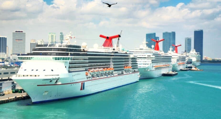 Carnival Cruise Ships Docked in Miami