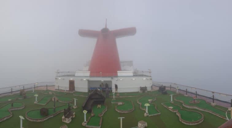 Carnival Dream Cruise Ship in Fog