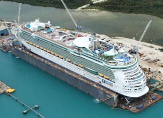 Liberty of the Seas in Dry Dock