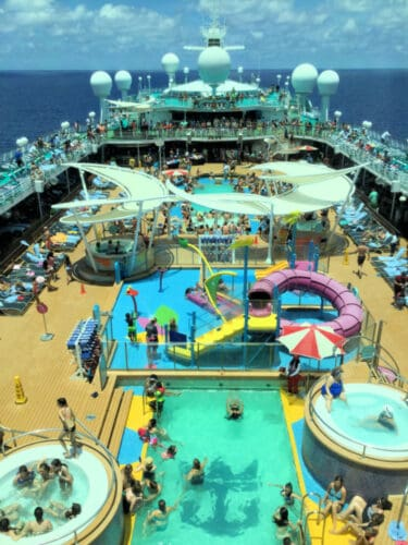 Royal Caribbean Cruise Ship Open Deck