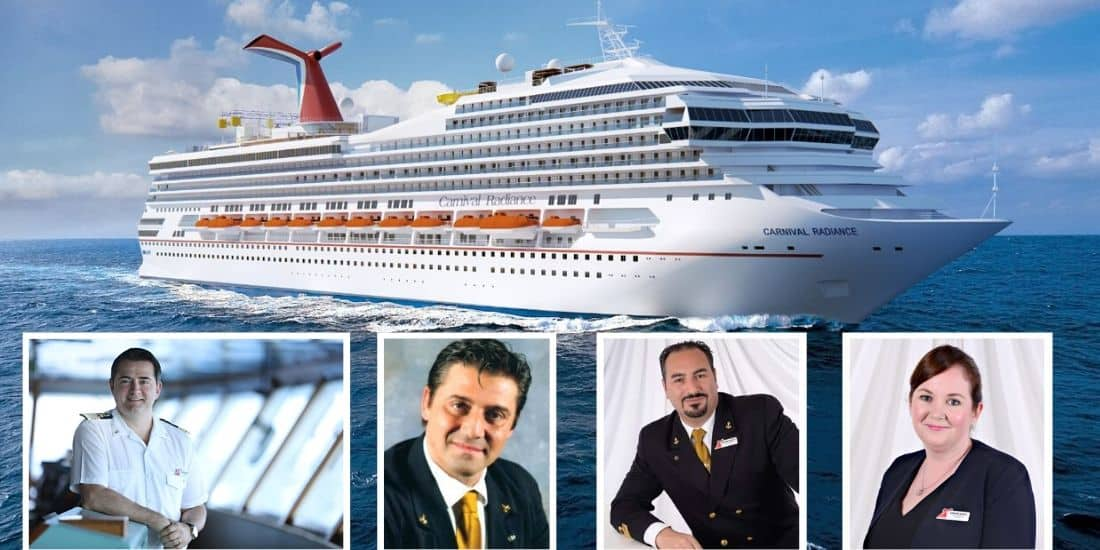 Officers of Carnival Radiance