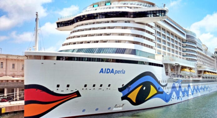 AIDAperla Cruise Ship in Port