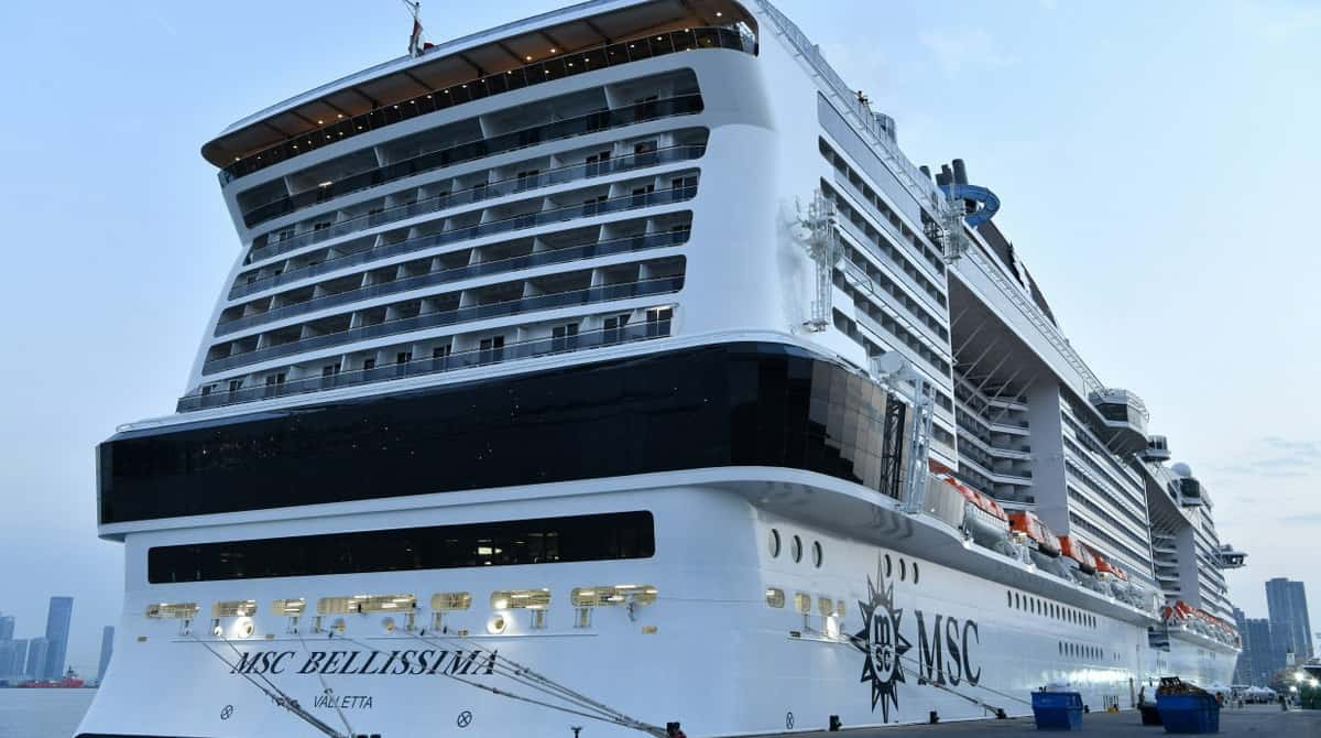 MSC Bellissima Cruise Ship in Port