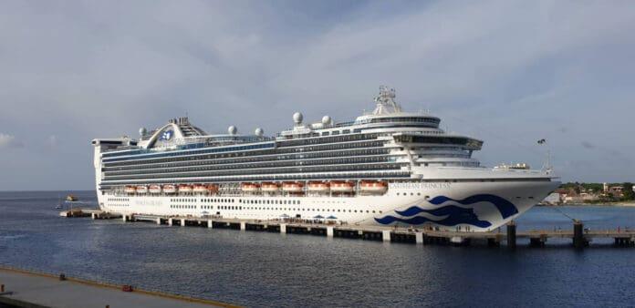Caribbean Princess Cruise Ship in Port