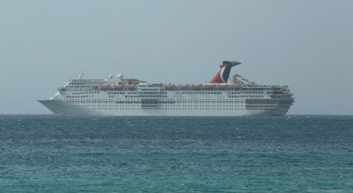 Carnival Fascination off Caribbean Cruise Port