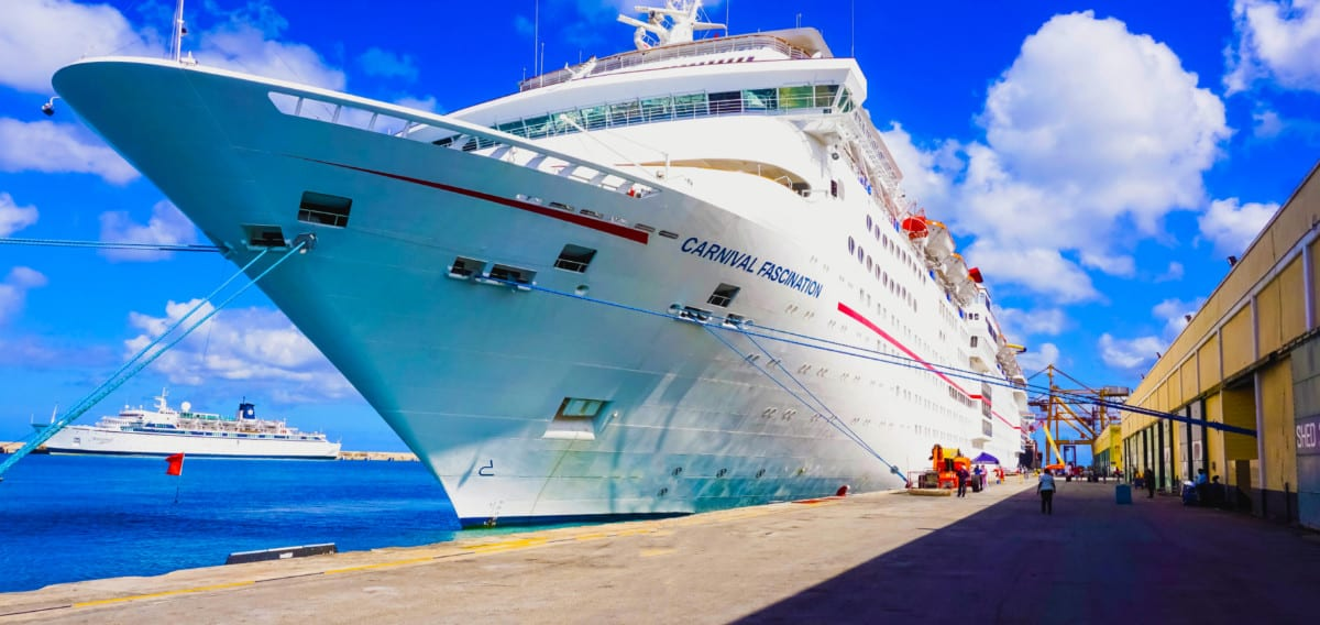 Carnival Fascination Cruise Ship in Barbados