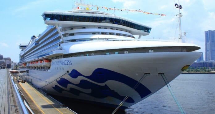 Diamond Princess Cruise Ship Docked in Japan