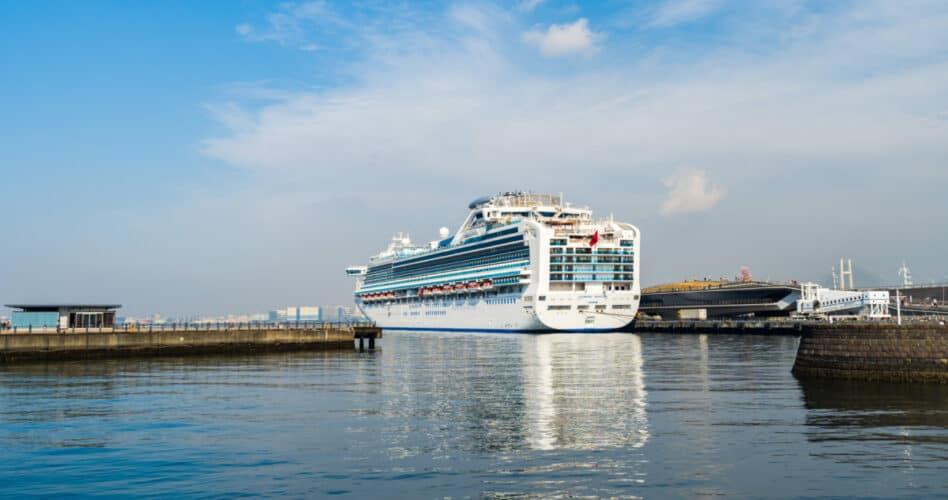 Diamond Princess Cruise Ship in Yokohama