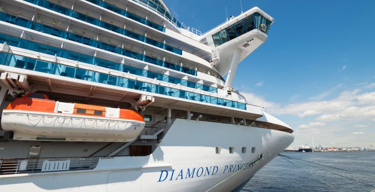 Diamond princess Cruise Ship in Japan