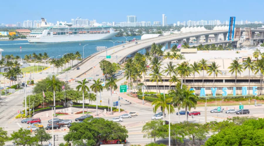 Fort Lauderdale to Miami Cruise Port
