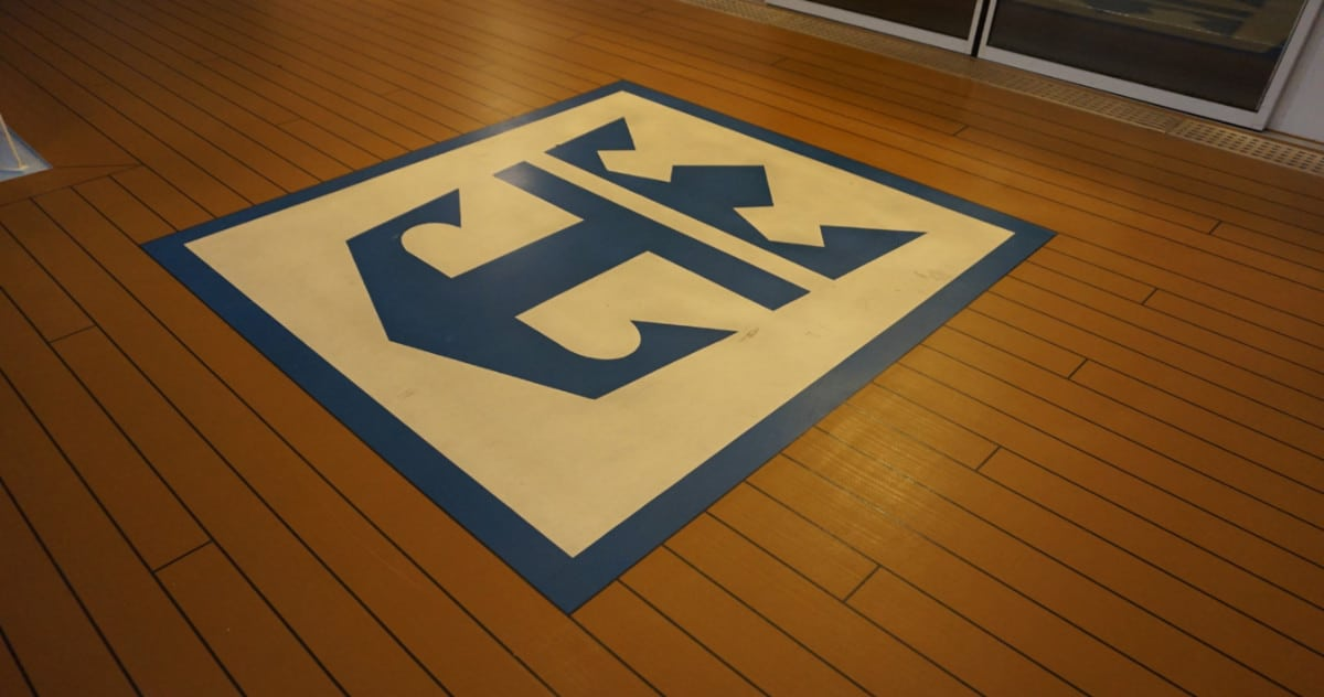 Royal Caribbean Logo on Deck