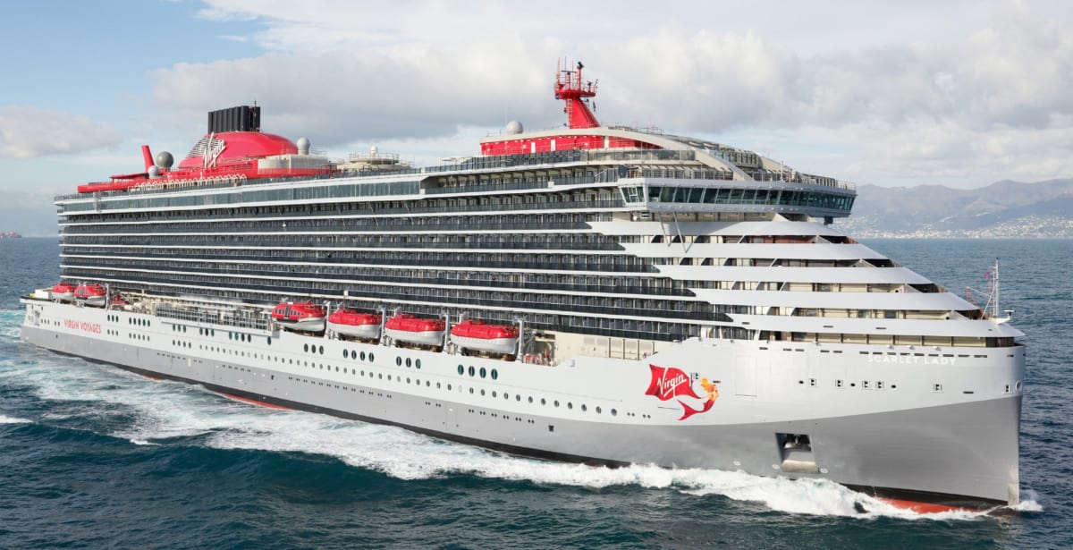 Scarlet Lady Cruise Ship at Sea