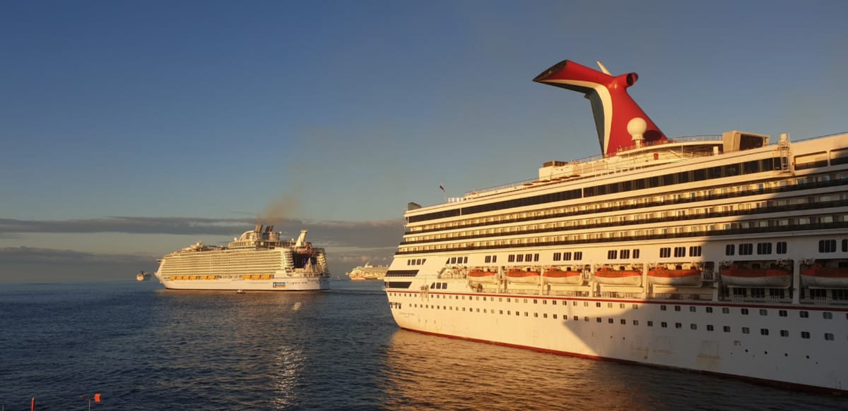 Two Cruise Ships in Port