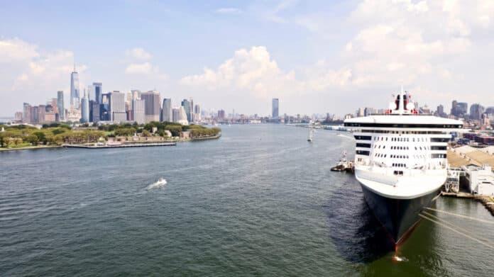 Cruise Ship Docked in Brooklyn, New York