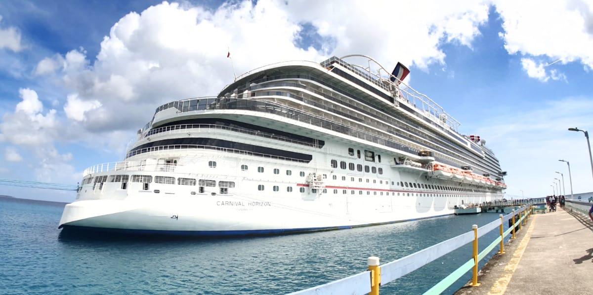 Carnival Horizon Docked in Jamaica