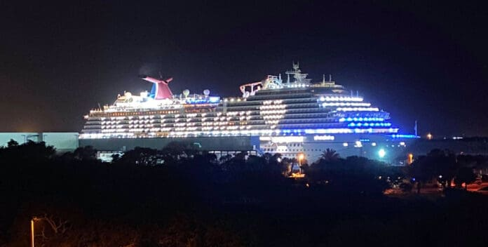 Carnival Cruise Ship Lights Up