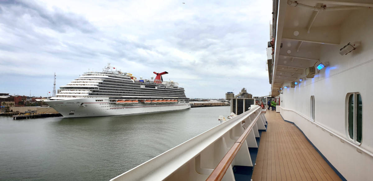 Carnival Vista Docked at Port of Galveston