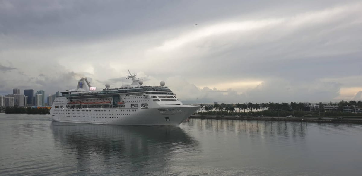 Empress of the Seas Departing Miami