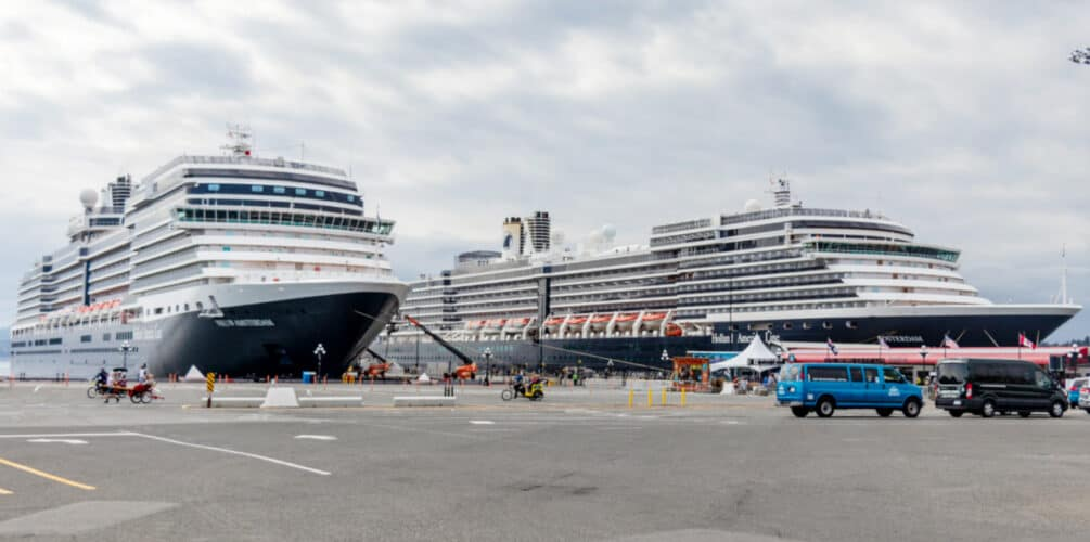 Docked Holland America Ships
