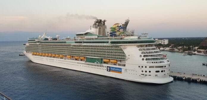 Independence of the Seas Cruise Ship Docked