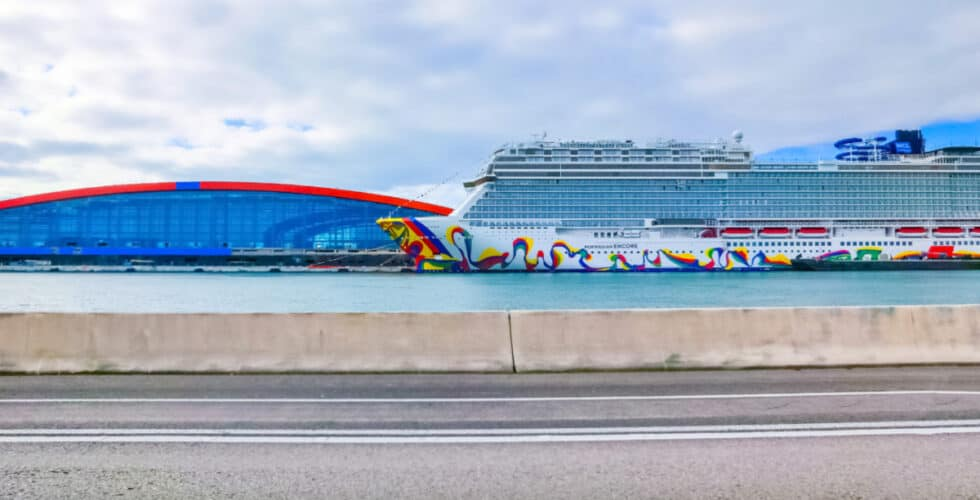 Norwegian Encore Docked in Miami