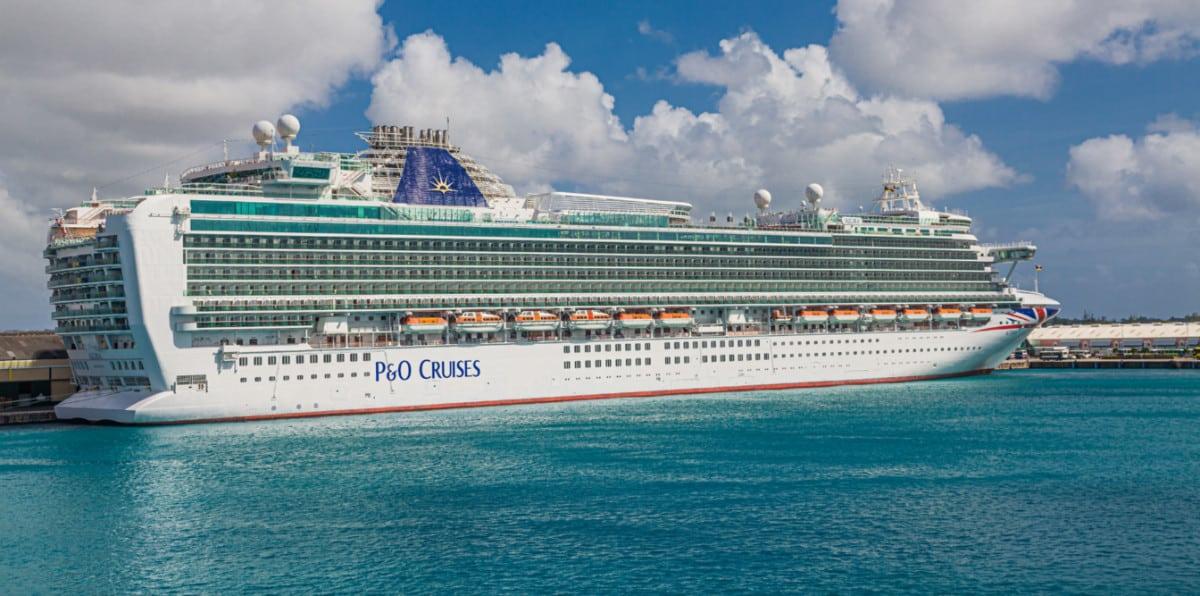 P&O Cruise Ship Docked in Southampton