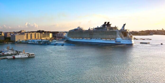 Docked Cruise Ship in San Juan