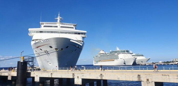 Cruise Ships Docked in Cozumel, Mexico