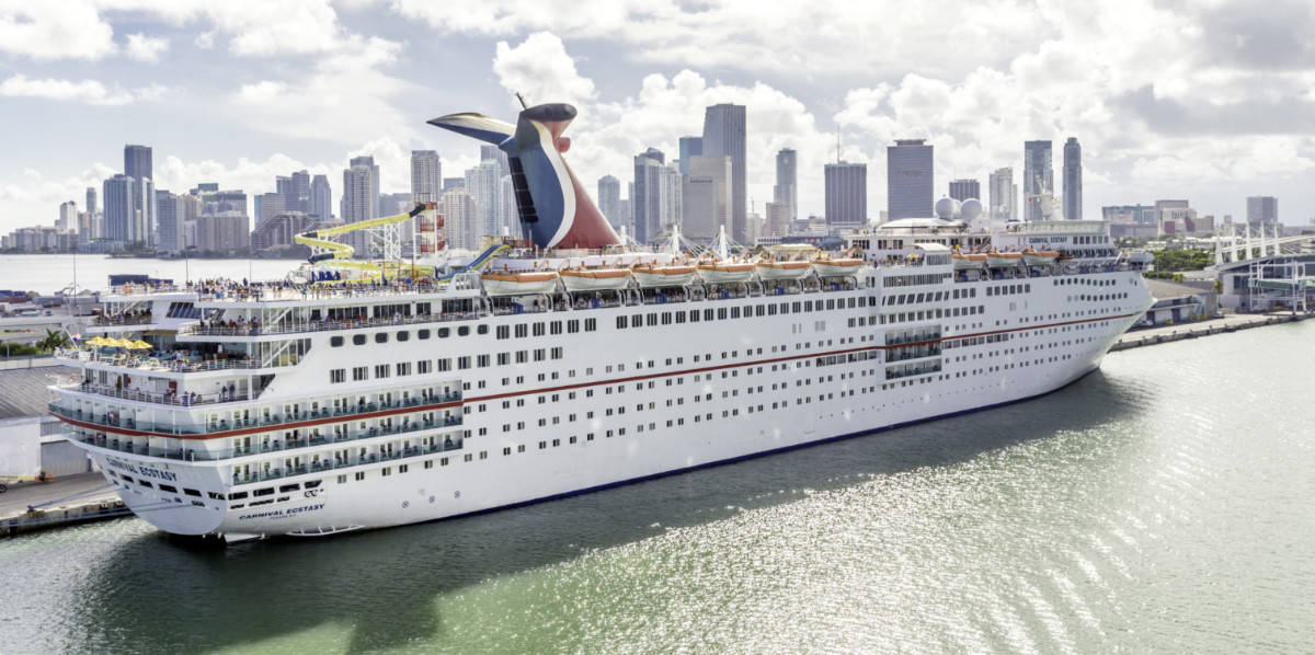 Carnival Ecstasy Cruise Ship in Miami