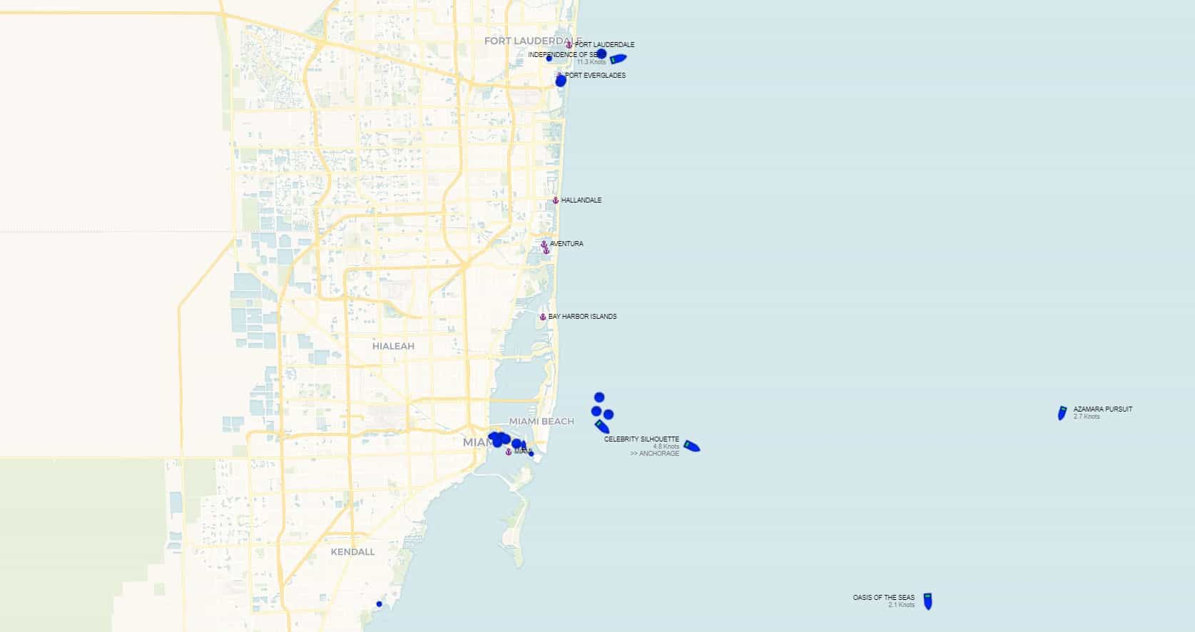 Real-Time Cruise Ship Tracker
