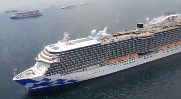 Anchored Cruise Ships, Manila Bay