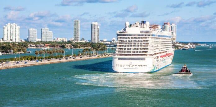 Norwegian Cruise Ship at Port of Miami