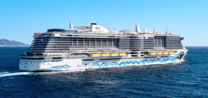 Aida Cruise Ship at Sea