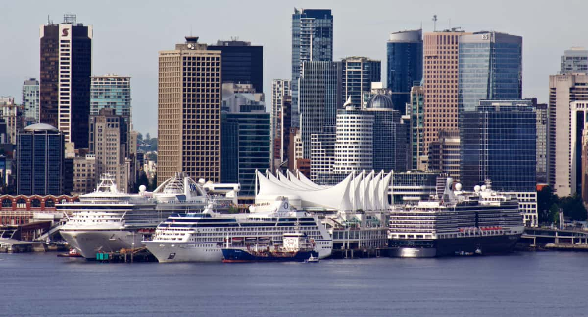 Cruise Ships Docked in Vancouver, Canada