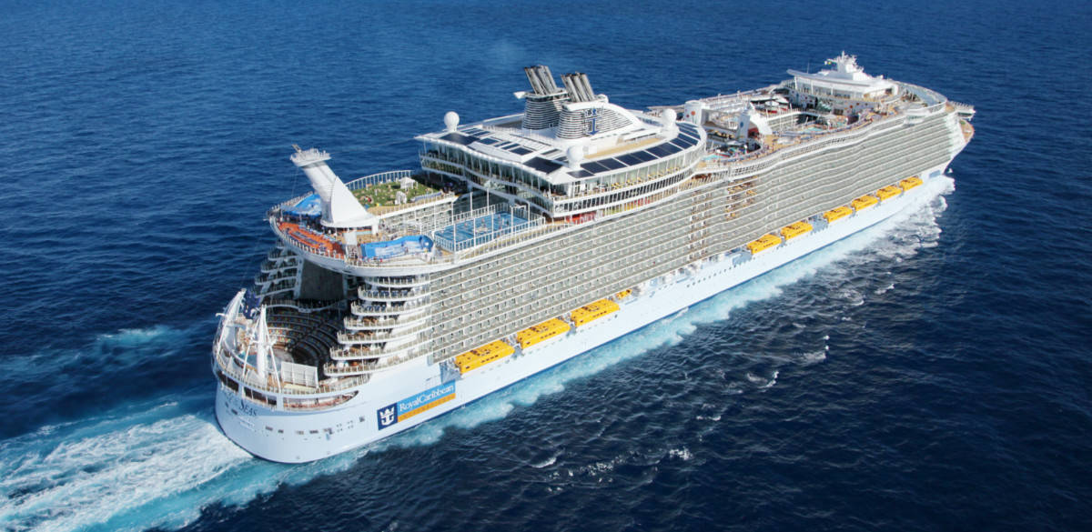Allure of the Seas Cruise Ship at Sea