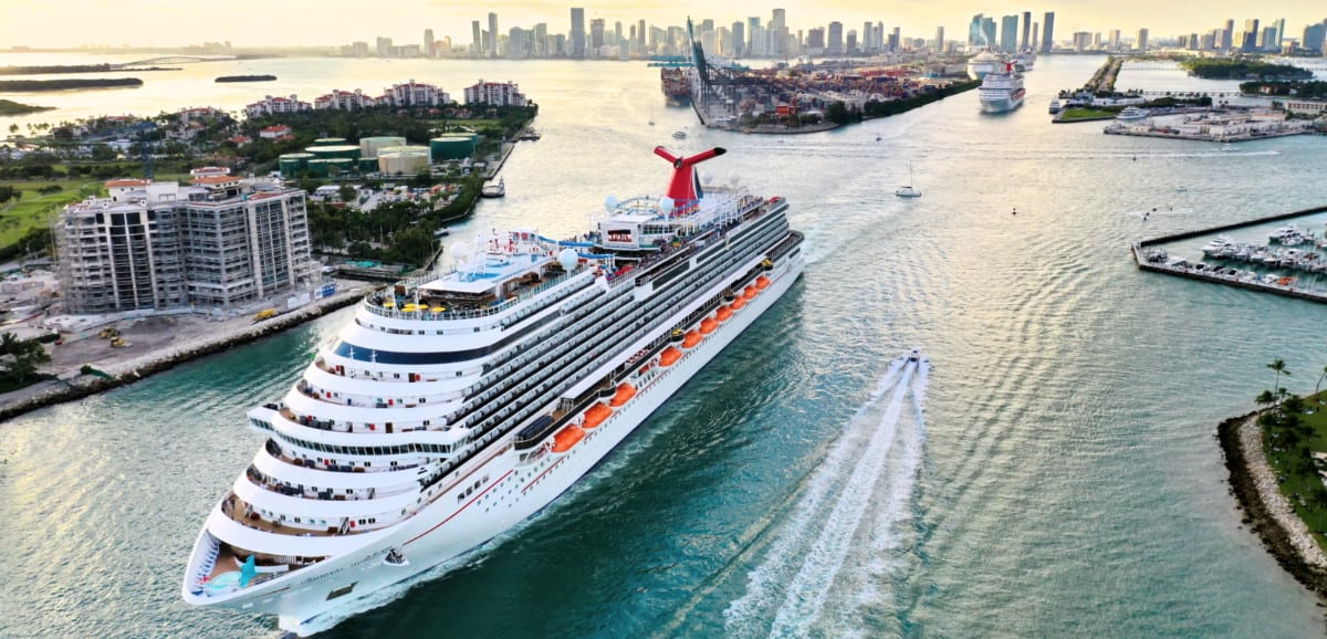Carnival Cruise Ship Departing Miami