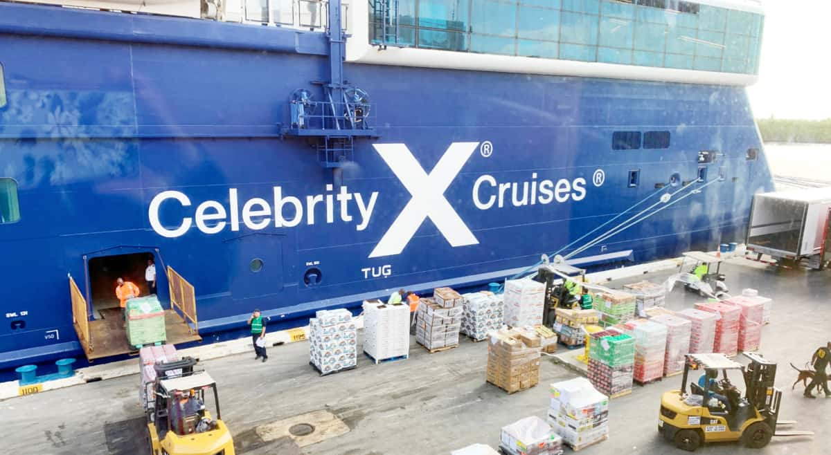 Docked Celebrity Cruises Ship