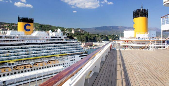 Docked Costa Cruise Ships
