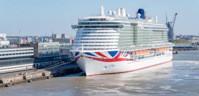 Docked P&O Iona Cruise Ship