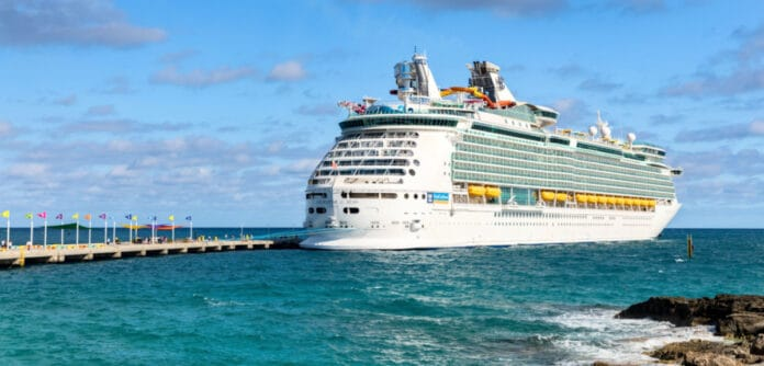 Navigator of the Seas Docked at CocoCay