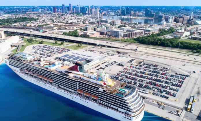 Baltimore Cruise Port and Skyline
