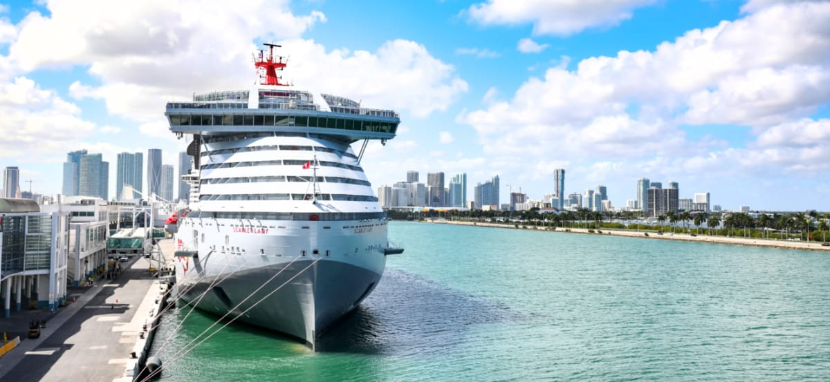Scarlet Lady Docked in Miami