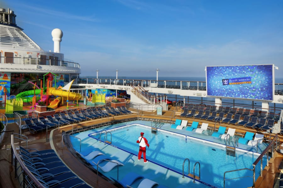 Spectrum of the Seas Open Deck and Swimming Pook