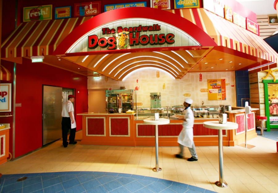 The Boardwalk Doghouse onboard Royal Caribbean's Allure of the Seas