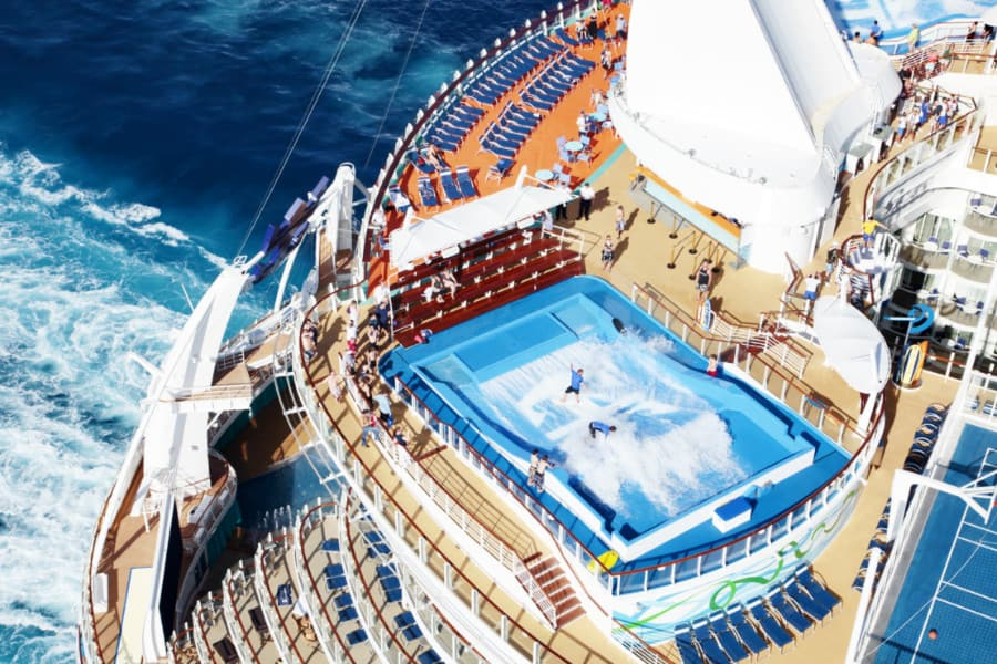 Aft view of Allure of the Seas