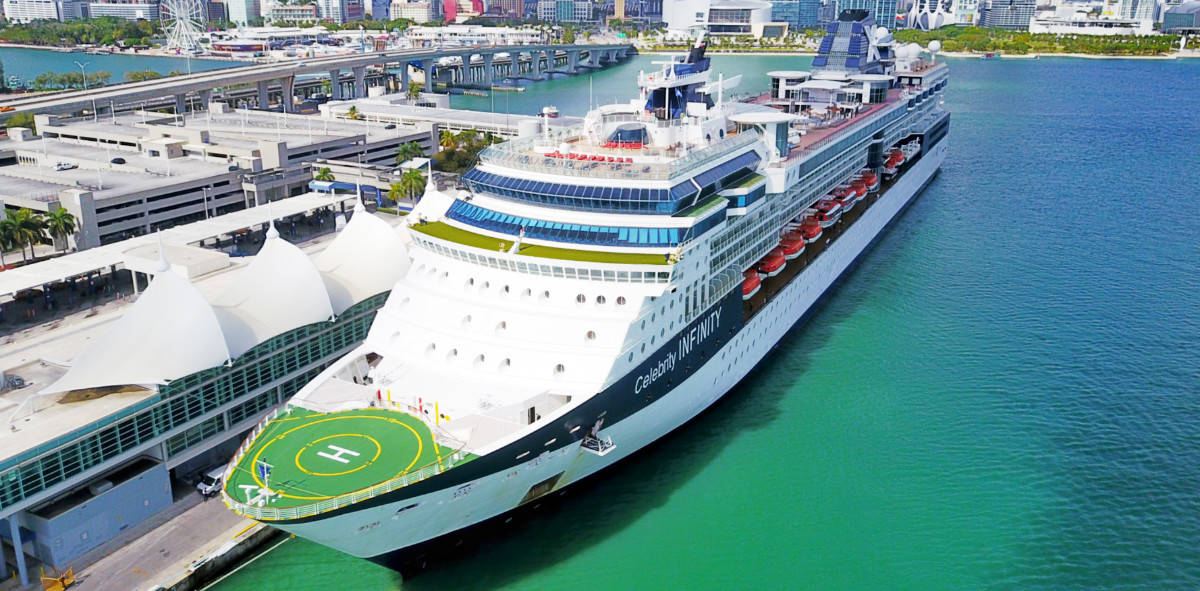 Celebrity Cruise Ship Docked in Miami