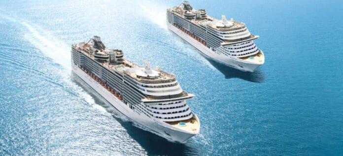 MSC Cruise Ships at Sea