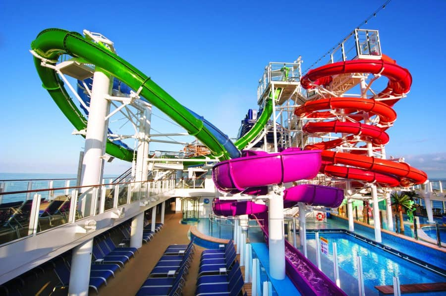 Aquapark on the Norwegian Getaway cruise ship